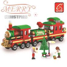 860pc Alanwhale hiver Village poste bureau ville calendrier de l'avent modèle de noël blocs de construction briques jouet Compatible avec 25607(China)