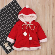 Christmas Baby Santa Claus Costume Baby Cosplay Boys Clothes Long Sleeve Toddler Girls Red Dress Cute Infant Baby Winter Dress(China)