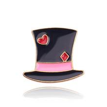 4 Pcs Lucu Kreatif Bros Topi Ajaib Alice Wonderland By The Scruff Of The Jantung Kelinci Enamel Pin Warna Dongeng Perhiasan Accessorie(China)