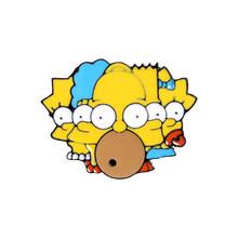 I Simpson pins Ciambella Divertente design Spille Distintivi e Simboli Umorismo Dello Smalto Del Fumetto Zaino pins Per gli appassionati di Anime Regali commercio all'ingrosso Dei Monili(China)