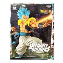 21 CENTÍMETROS Anime Dragon Ball Z Son Goku & Ressurreição Último guerreiro Azul fusão cabelo Vegeta Gogeta figura de ação DO PVC modelo de brinquedo(China)
