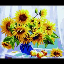 GATYZTORY 60x75 см Рамка DIY Набор для рисования по номерам подсолнухи абстрактные современные домашние настенные художественные картины цветы Кра...(Китай)