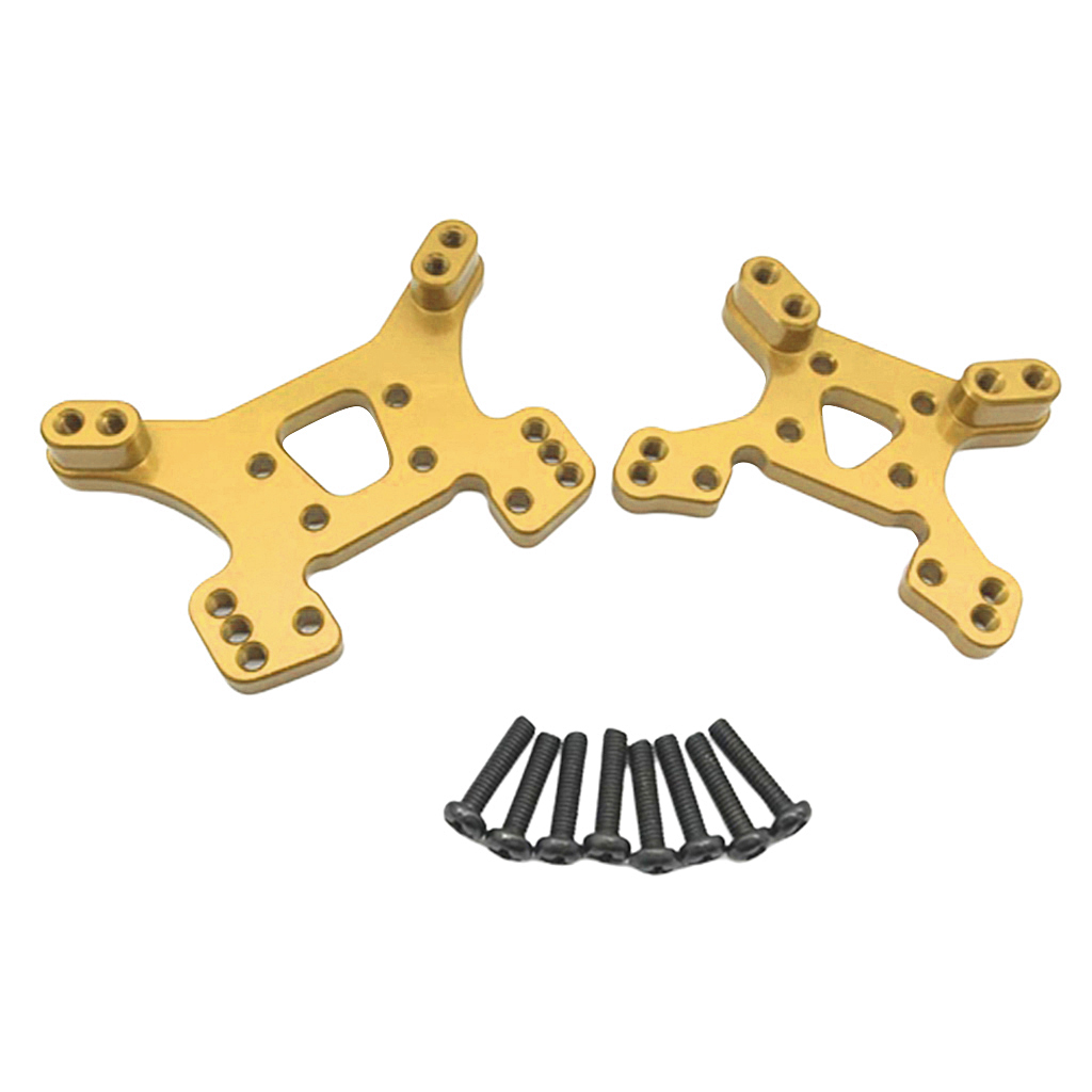 2x Aluminum Metal Front Rear Shock Tower for Wltoys 144001 1/14 Scale RC Car