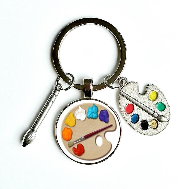 Granite Painted Palette keychain