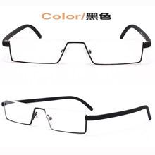 Мужские и женские очки для чтения BCLEAR, винтажные очки для чтения с полуободком черного и красного цвета, очки для пресбиопии, уникальные диз...(Китай)