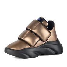 Donna-Năm 2019 Len Mùa Đông Nữ Chun Giày Đế Chống Thấm Nước Ấm Áp Với Bộ Lông Phẳng Cho Nam Lớn Giày(China)