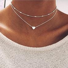 17KM Boho or colliers pendentifs pour femmes Vintage Y serrure lune perle étoile collier 2019 femme collier ras du cou bijoux de mode(China)