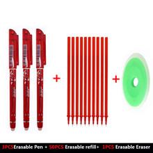 54 قطعة/المجموعة قابل للمسح القلم الملء هلام القلم 0.5 مللي متر قابل للمسح ممحاة 4 ألوان القرطاسية للمدرسة مكتب أقلام الكتابة لوازم أداة(China)