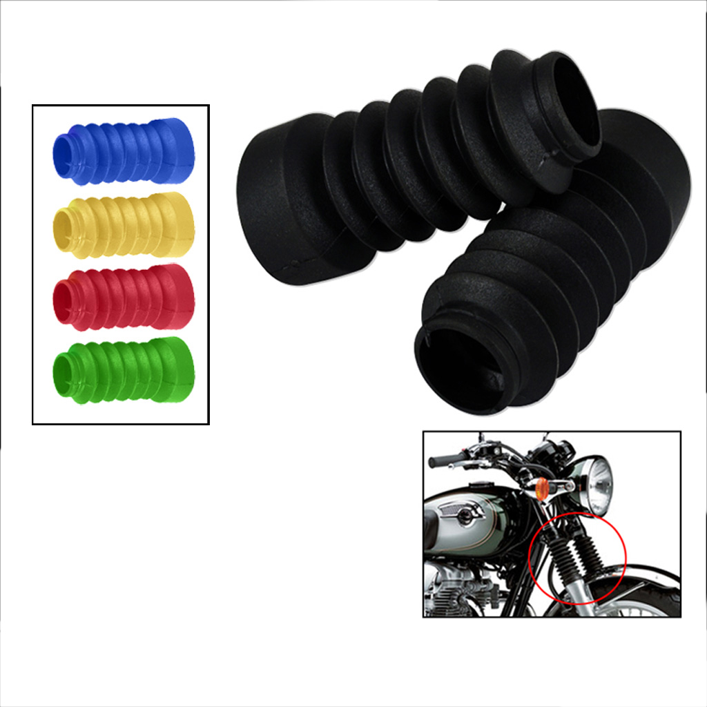 Motorcycle Rubber Fork Shock Boots Gaiters Dust Cover 103mm for Yamaha Jog 50cc 90cc