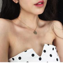 Nowe proste z frędzlami damski łańcuszek naszyjnik srebrny złoty okrągły Choker naszyjnik biżuteria spersonalizowane naszyjniki akcesoria prezent(China)