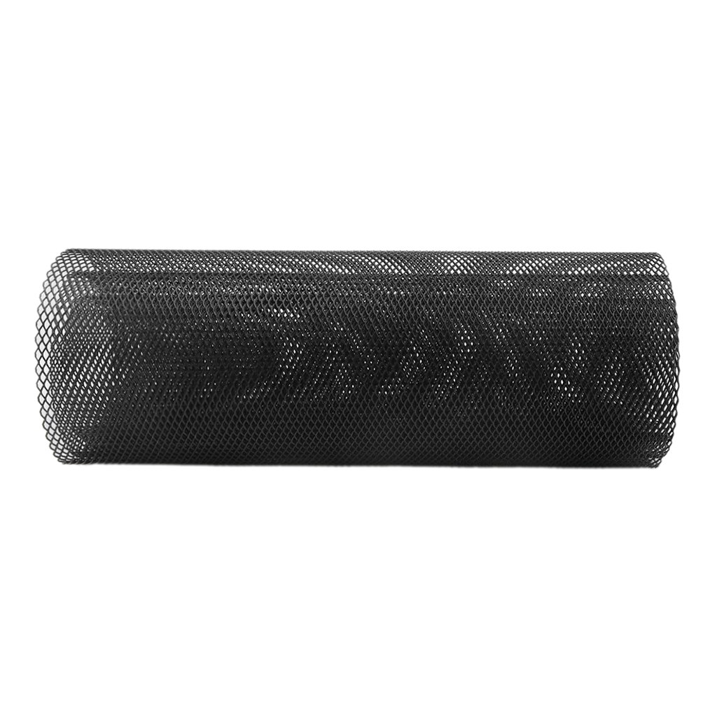 Perfeclan Aluminum Alloy Front Bumper Rhombic Grille Vent Mesh Sheet Black