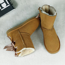 Hakiki deri yarım çizmeler kadınlar kış sıcak için çizmeler marka kadın ayakkabısı Lace Up kadın ayakkabısı, çizmeler rahat ayakkabılar DE(China)