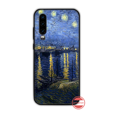 Art van gogh cover Soft Silicone Black Phone Case Funda For Huawei P9 P10 P20 P30 Lite 2016 2017 2019 plus pro P smart(China)