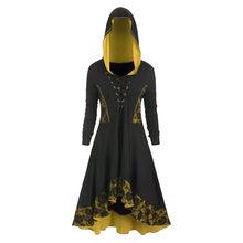 Gothic Đầm Plus Size Nữ Thời Trang Gothic Tay Dài Phối Ren Đầm Viền ĐẦM VINTAGE Đầm Dự Tiệc Mùa Xuân ĐẦM MÙA THU vestido7(China)