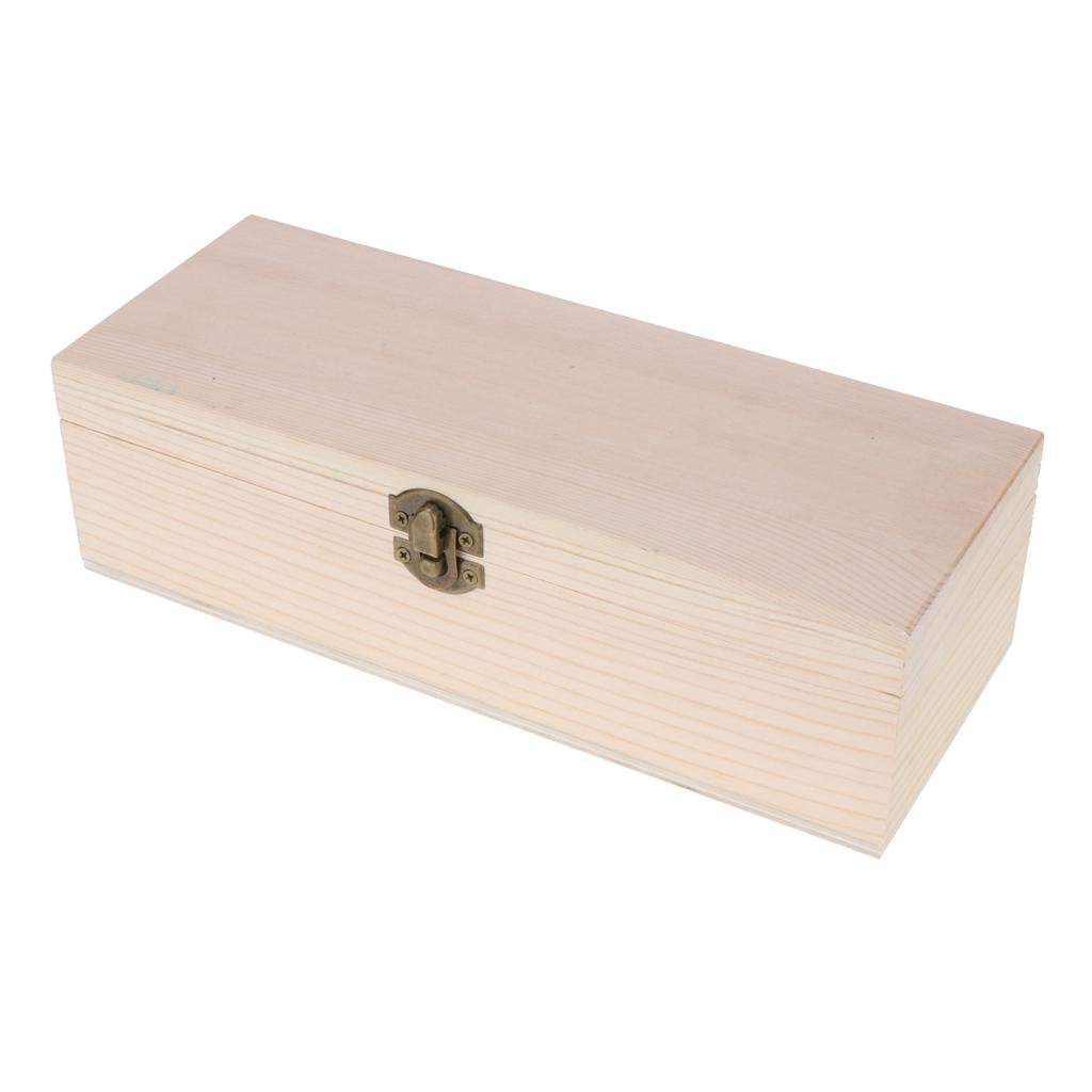Wooden Tea Box Case with Metal Lock Tea Storage Holder Organizer Present Jewelries Chest Cards Tea Storage
