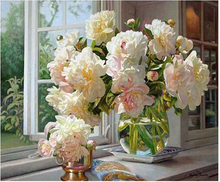 Meian plein forage diamants broderie bricolage 5D diamant peinture pivoine fleurs point de croix Kits Daimond mosaïque 2019 décoration de la maison(China)