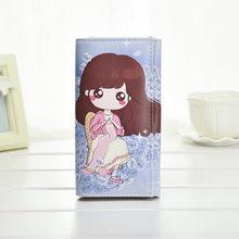 Meninas bonito bolsa de Moedas de Moda Das Mulheres Carteiras Bolsas de Senhora Embreagem Bolso Longo Bolsas Moneybags Cartões de ID Titular Fêmea Carteiras telefone carteira(China)