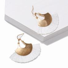 Statement Bohemian Tassel Earrings Antique Gold Geometric Vintage Boho Ethnic Accessories Long Drop Earrings For Women Jewelry(China)