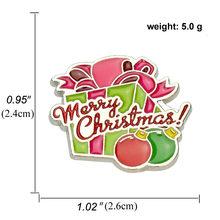 Natal Merah Snowman Santa Claus Elk Rusa Bros Natal Pesta Kristal Bros Pin(China)