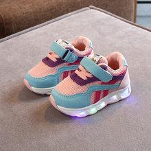 גודל 21-30 ילדי של Led נעלי בני בנות המואר סניקרס זוהר נעלי ילד נעלי בני תינוק נעלי ספורט עם זוהר בלעדי(China)