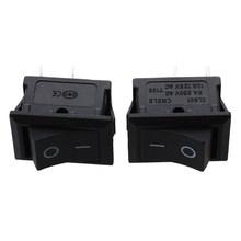 2 pièces Auto voiture AC 6A/250V 10A/125V 2 broches 2 positions interrupteur à bascule marche/arrêt KCD1(China)