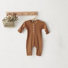 Baby Boy Romper Clothes 0-24M 신생아 소녀 Rompers 코튼 긴 소매 Jumpsuit 복장 모자 아기 Onesie 봄(China)