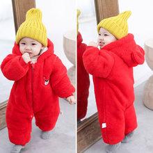 Коллекция 2019 года, пальто для новорожденных детей ясельного возраста зимняя одежда с капюшоном Детский комбинезон из полиэстера для малыше...(China)