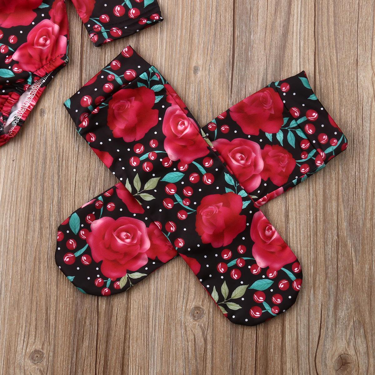S/äuglingsbabykleidung Langarm Strampler Overall R/üschen Bodysuit Floral Hosen Outfits mit Stirnband 3 St/ücke Sets