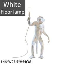 Бренд gzmj Смола светодиодный кулон с обезьяной свет лампы Черный Белый пеньковый Канат лампа гостиная висячие лампы для дома искусство Гост...(China)