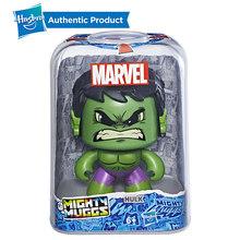 Hasbro Poderoso Muggs Marvel Os Vingadores Capitão América Hulk Spiderman Groot 3 Expressões Faciais Collectible Figure Toy Presente(China)