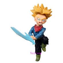 7-8 centímetros Anime Dragon Ball Z Kakarotto Son Goku vegeta Super Saiyan Trunks PVC Action Figure brinquedos de Natal brinquedo de presente 34 estilos(China)