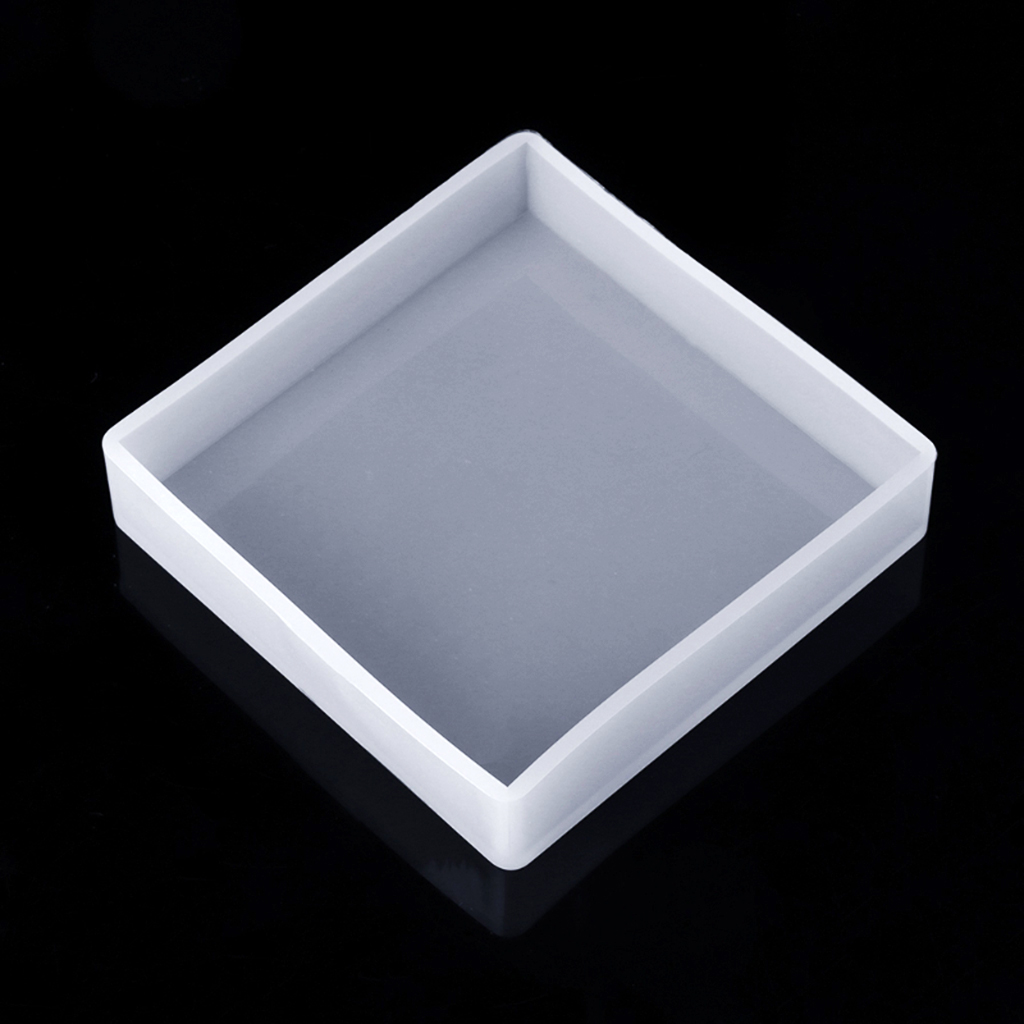 16mm per Cavity Soap Making 2pcs Cubic Design Silicone Bead Molds with Holes Square Resin Epoxy Mold for DIY Jewelry Cabochon Gemstone Crafting Projects,Diameter 12mm Polymer Clay Cube 2 in Set