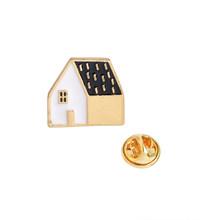 Mini Lucu Kartun Kerah Pin Rumah Apple Pine Apple Alpaca Gunung Bros Lencana Ransel Enamel Pin Perhiasan Hadiah untuk Teman(China)