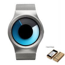 GEEKTHINK Relojes Cuarzo de Los Hombres de Primeras Marcas de Lujo Ocasional Unisex Reloj de la Banda de Malla De acero Inoxidable mujer Hombre Caballero regalo(China)