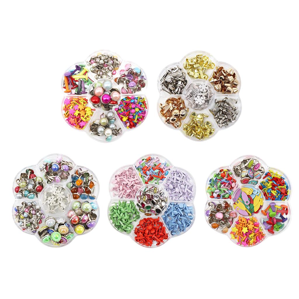 100pcs Mini Brads Round Head Metal Brads Crafts Split Pins Paper Fasteners for Multicolor Scrapbooking Stamping DIY Tool