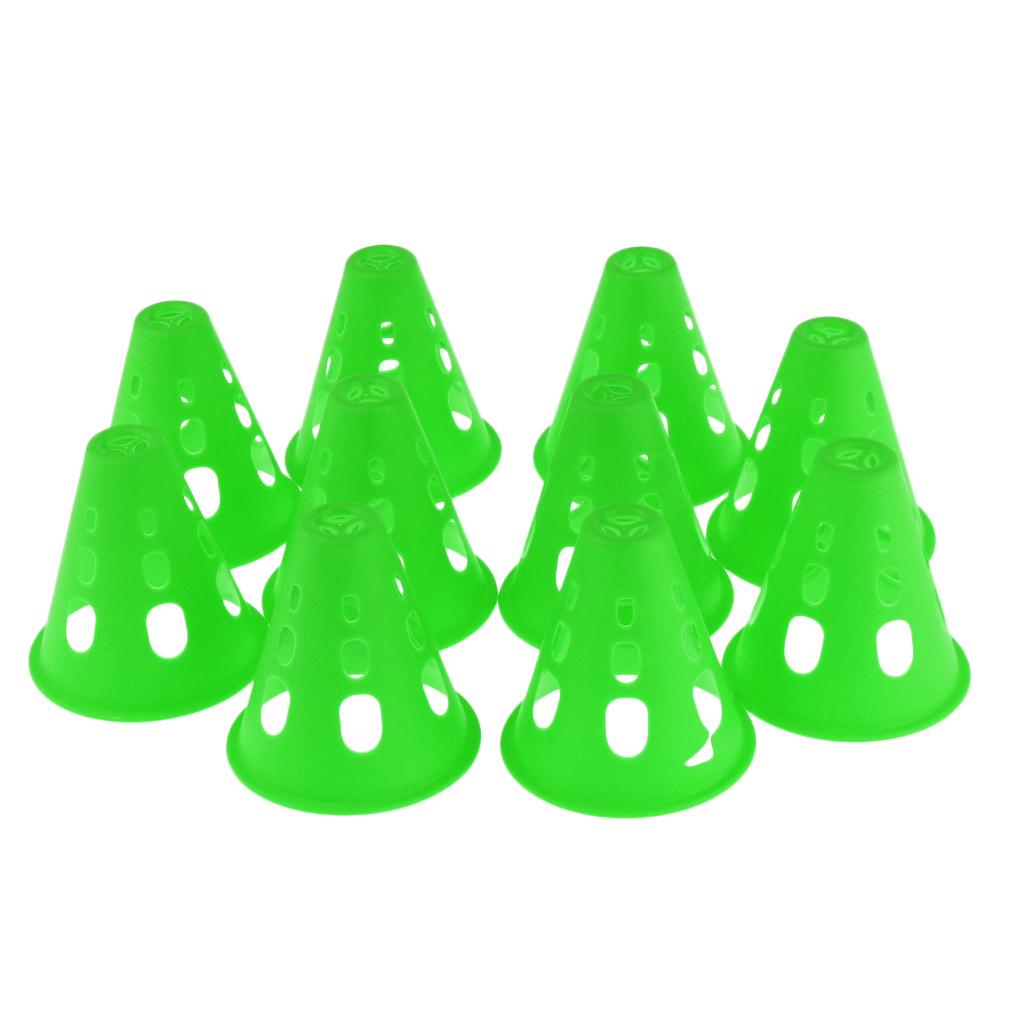 10pcs Plastic Windproof Roadblock Sport Training Traffic Road Cones