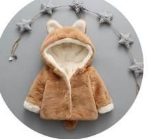 BibiCola chaquetas de invierno para bebés y niñas con sombrero para bebés y niños recién nacidos abrigo con pelo de tipo parka chaqueta de bebé con capucha parka ropa infantil(China)