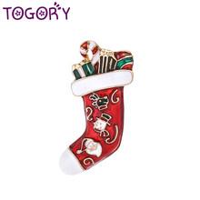 TOGORY חמוד ריינסטון מגפי סיכות לנשים טרנדי חג המולד Creative סיכות קשת אביזרי שמלת תכשיטי מעיל חם מכירות(China)