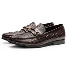 Мужская повседневная обувь из натуральной кожи; Деловые модельные туфли для торжеств; Мужские брендовые свадебные туфли оксфорды Bullock; Цвет...(China)