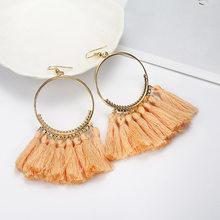 2019 colorful crystal tassel earrings for women charm earrings fashion jewelry Wedding bridal statement fringe earring(China)