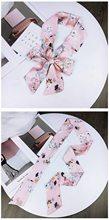 DHL 200pcs ผู้หญิงลำลองวินเทจผ้าไหมซาตินสแควร์ผ้าพันคอคอ Retro โบว์ผูกผม Band Bandanas(China)