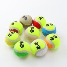 حجم صغير 65 مللي متر كلب القط لعبة رواج كرات التنس تشغيل الصيد رمي اللعب مضحك مضغ الحيوانات الأليفة اللعب مستلزمات الحيوانات الأليفة(China)