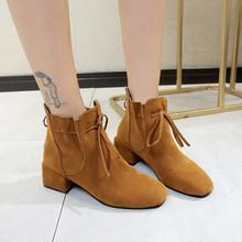 LZJ 2019 kadın yarım çizmeler sarı renk ayakkabı kadın Zip çizmeler seksi orta topuklu yarım çizmeler kadın ayakkabısı patik Zapatos De Mujer(China)