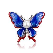 Crystal Vintage Butterfly Dragonfly Bros untuk Wanita Besar Burung Serangga Bros Pin Fashion Gaun Mantel Aksesoris Lucu Perhiasan(China)
