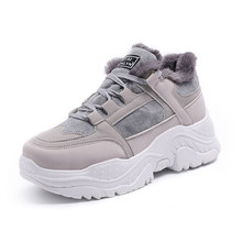 Fujin Nền Tảng Đế Bằng Nữ Giày Nữ Mùa Đông 2020 Sang Trọng Giày Boots Mùa Xuân, Mùa Thu Thường Thoáng Khí Giày Đế Bằng Dây Leo(China)