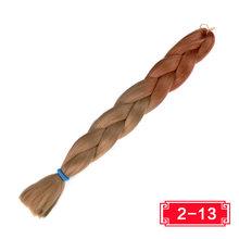 Синтетические волосы 82 ''165 г вязанные крючком волосы черный розовый фиолетовый коричневый длинные Джамбо плетеные косы Xpression плетение воло...(China)