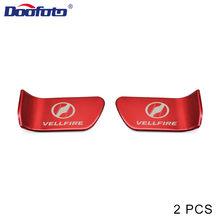 Doofoto 2x רכב דלת קערת מדבקה עבור טויוטה Vellfire 30 סדרת אביזרי סטיילינג פנים מגן כיסוי כרום קישוט(China)