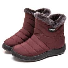 Frauen Stiefel Wasserdicht Schnee Stiefel Weibliche Plüsch Winter Stiefel Frauen Warme Knöchel Botas Mujer Winter Schuhe Frau Plus Größe 43(China)