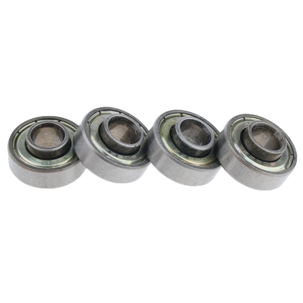 4 Pcs Wheelchair Front Caster Wheel Bearings Replacements, 0.9 inch Diameter for Most Standard Wheelchair, Quiet Operation