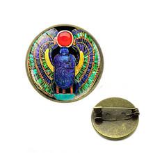 2019 Simbolo di Forza Scarabeo Egizio Cupola di Vetro spille Antico Occhio di Horus Egitto perni Dei Monili di Modo di Fascino del Regalo Delle Donne(China)